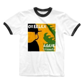 GREELAX コラボ パキポキ Ringer T-shirts