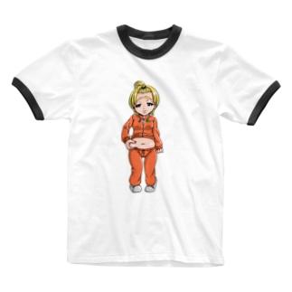 ぷに子 Ringer T-shirts