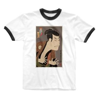 三代目大谷鬼次の江戸兵衛 リンガーTシャツ Ringer T-shirts