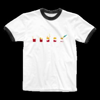 NATSUYA TAKASAKIのフライドポテト Ringer T-shirts