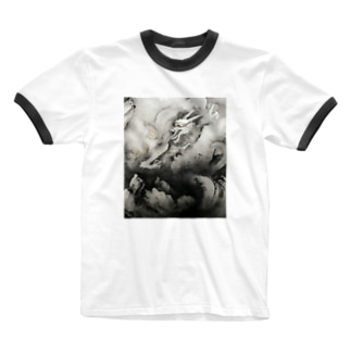 横山大観 龍興而致雲 Ringer T-shirts