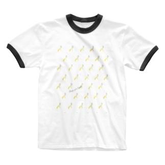 CYB pattern Ringer T-shirts