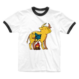 ファラリスの雄牛とサメくん Ringer T-Shirt