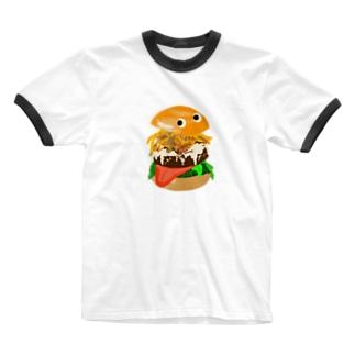 ハンバーガー Ringer T-Shirt