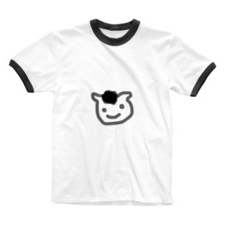 ひつじのおかお Ringer T-shirts