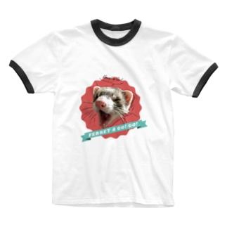 FERRET A GO! GO! Ringer T-Shirt