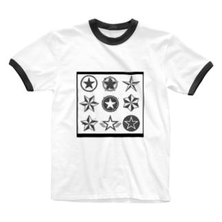 色んなスター★ Ringer T-shirts