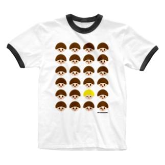どんぐりくん Ringer T-shirts