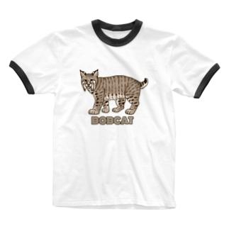 野生のにゃん・ボブキャット Ringer T-Shirt