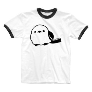 シマエナガ Ringer T-shirts