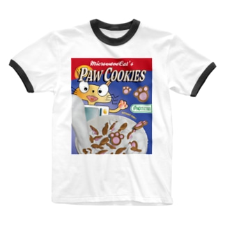 PAW COOKIES (KITCHEN ANIMANLS) Ringer T-shirts