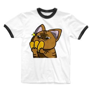 価値の分かる猫 Ringer T-shirts