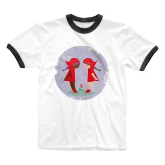 赤い頭巾 Ringer T-shirts