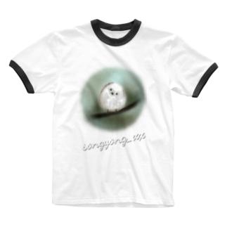 ジャワジャワ シマエナガ Ringer T-shirts