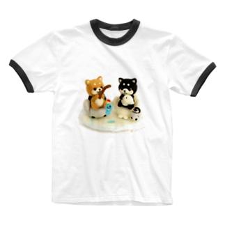まめしば釣り Ringer T-Shirt