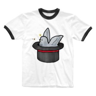 まめでっぽー Ringer T-shirts