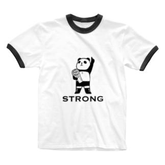 パンダプロレス チャンピオン Ringer T-shirts