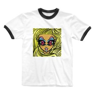 髪の長い血涙姫 Ringer T-shirts