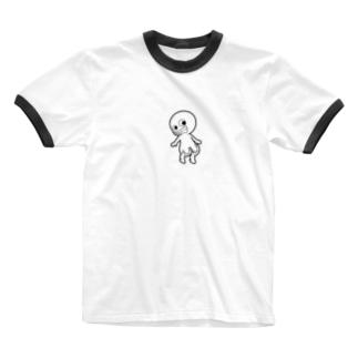 プリケツ君 Ringer T-shirts
