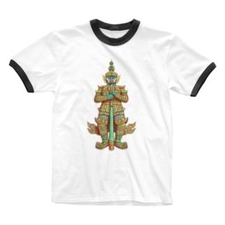 魔よけのヤック Ringer T-shirts
