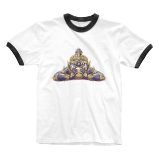 悪運退散ラーフ神 Ringer T-shirts