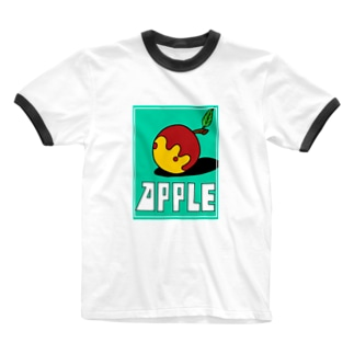 りんご Ringer T-shirts