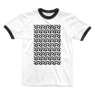 アオフジマキのモダンパターン Ringer T-shirts