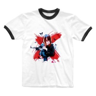 チャンポニ❌ Ringer T-shirts