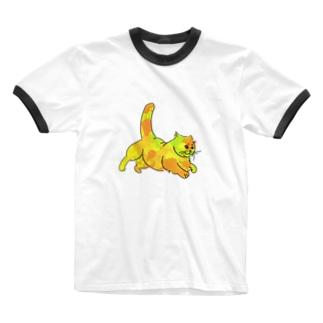 夜に急ぐ猫(単体) Ringer T-shirts