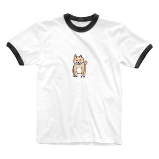 柴犬(おすわり) Ringer T-shirts