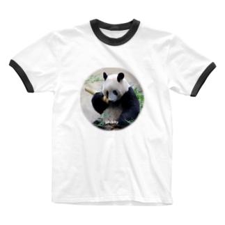 もしもしシャンシャン Ringer T-shirts