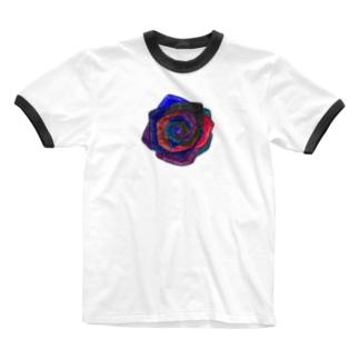 ばら Ringer T-shirts