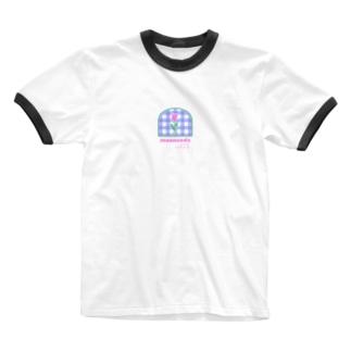 tulip×check Ringer T-shirts