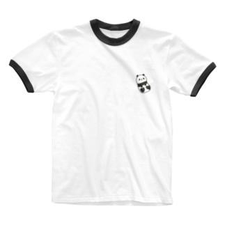 ころころパンダ Ringer T-shirts