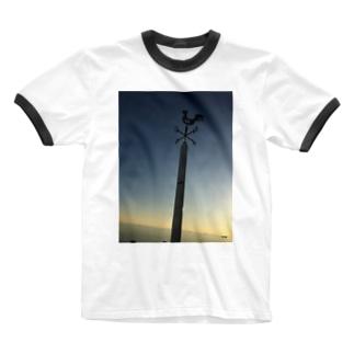 kazamidori Ringer T-shirts