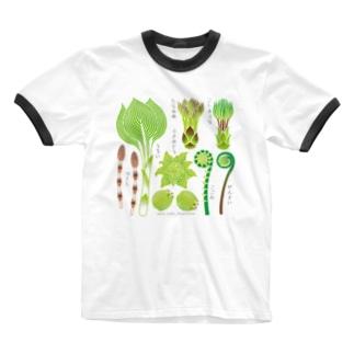 山の幸_山菜Ver.リンガーTシャツ Ringer T-shirts