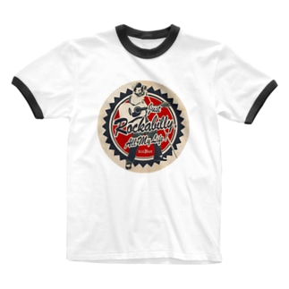 Rockabilly_Mのビリー諸川デザイン Ringer T-shirts