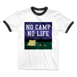 NO CAMP NO LIFE-ノーキャンプ ノーライフ- Ringer T-shirts