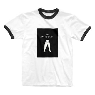 UMA ナイトクローラー (背景スミ色) Ringer T-shirts