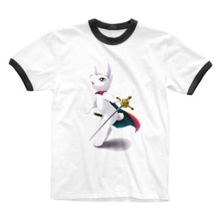 マッキー@うちの子愛好週間のうさぎの騎士 レイ Ringer T-shirts