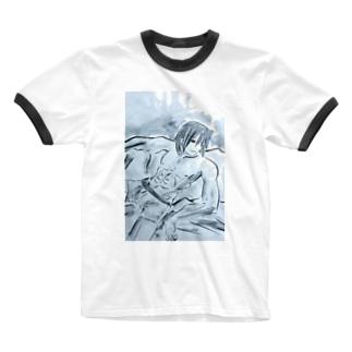 アース Ringer T-shirts