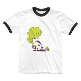 なまらやのうしろきのこ猫 Ringer T-Shirt