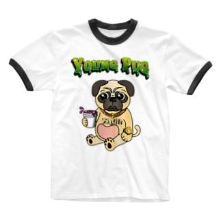 YOUNG PUG Ringer T-shirts