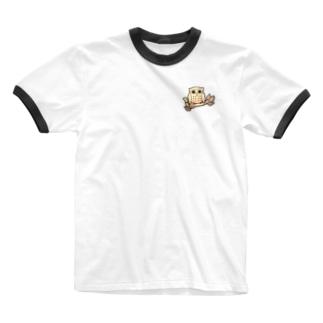 福フクロウ Ringer T-shirts