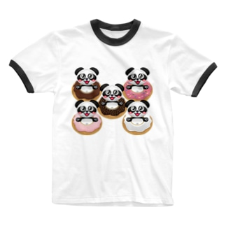 ドーナツパンダ☆ Ringer T-shirts