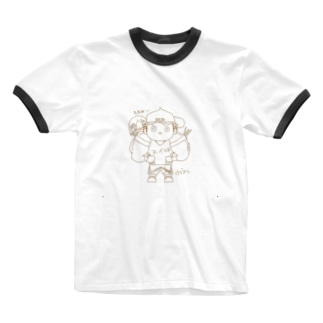 ウデアシ桃 Ringer T-shirts