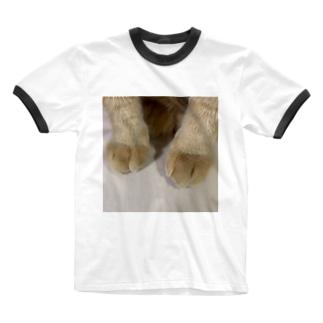 とら吉のくりーむパン🍞(猫の足) Ringer T-shirts