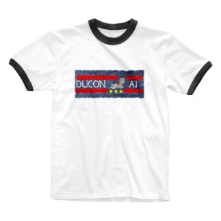 ducon-ai_ジーンズテクスチャ Ringer T-shirts