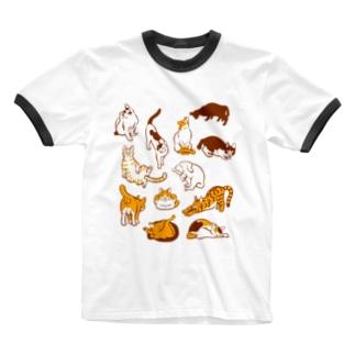 雲猫 Ringer T-shirts