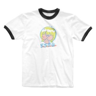 ササクレ Ringer T-shirts